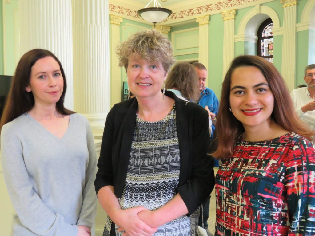 Irene Fogarty, Anne Burke and Adeleh Mohammadi