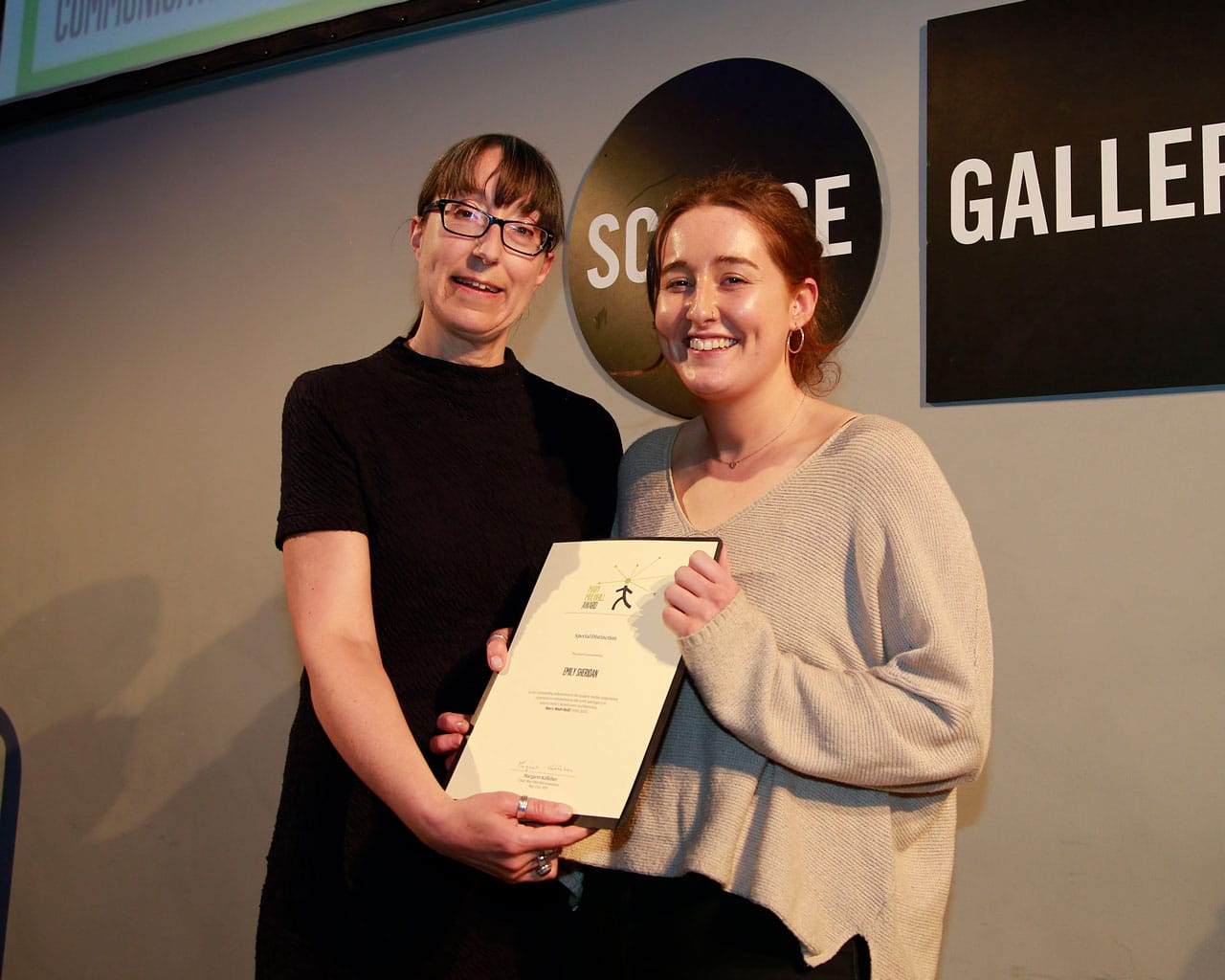 2019 Mary Mulvihill Awards Ann O'Dea with Special Distinction Award Winner Emily Sheridan