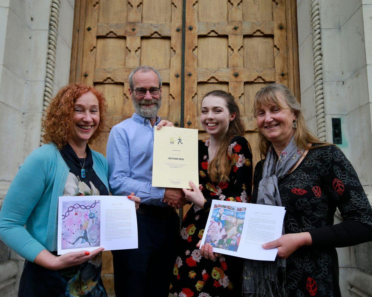 Norin Mulvihill, Brian Dolan, 2019 Mary Mulvihill Award Winner Laura Katharine Finnegan and Anne Mulvihill