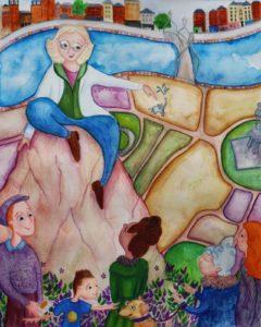 Illustration of Mary Mulvihill by 2019 Mary Mulvihill Award Winner Laura Katharine Finnegan